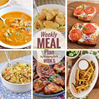 Slimming Eats Weekly Meal Plan – Week 5