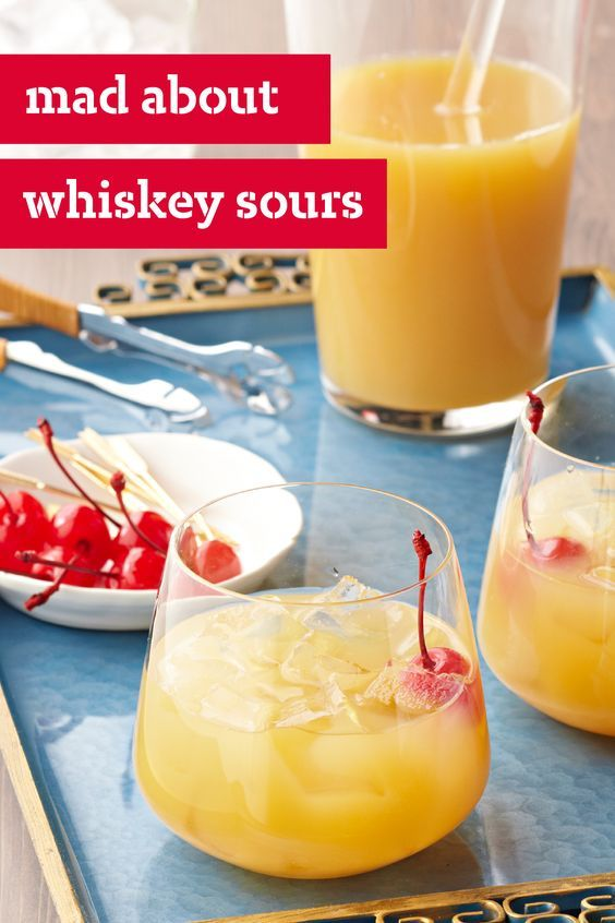 Easy whiskey sour drink recipe