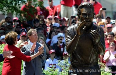 Unvailing of Statue of Nick Saban