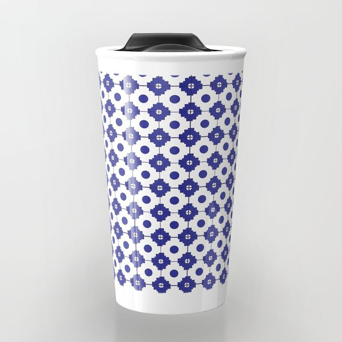 Mediterranean tiles pattern Travel Mug