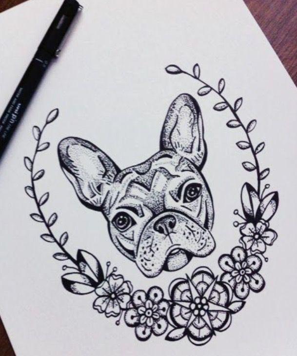 • English rose • flower • frame • dog •