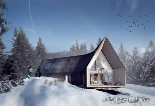 Жилой дом под названием Villa Korsmo, спроектированный архитектурной студией Huus og Heim Arkitektur, как нельзя лучше вписывается в сказочные зимние пейзажи Норвегии. Тем более, если это такое место, как коммуна Несодден в губернии Акерсхус. Высокие сосны и ели окружают...