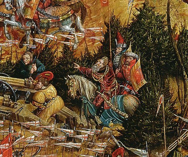 """Konstanty Ostrogski (""""Bitwa pod Orszą"""" detal) XVI wiek"""