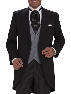 JOSEPH & FEISS CLASSIC GREY CUTAWAY MOORES : clothing for men: [[ tuxedo rental ]] Everyone in your wedding party will SAVE $30 on their tux rental when they join our Perfect Fit® rewards program.  PLUS  Get a FREE suit (a $500 retail value) or FREE TUX RENTAL (up to $219.99) for the groom with 5 paid rental packages.