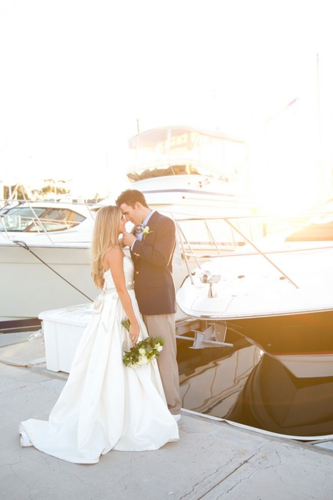 Yacht Club Bridal Portraits | Chic Nautical Styled Wedding Shoot by Colorful Snapshots Photography