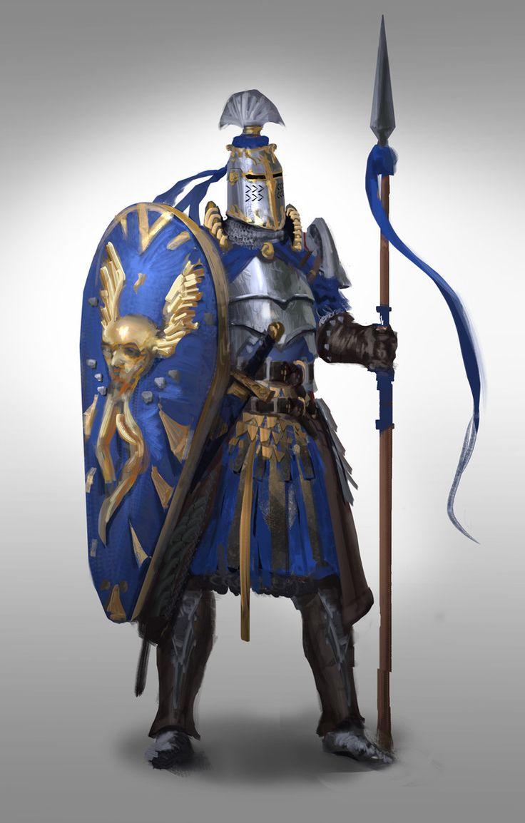 11/100 - Spear Knight, Sebastian Horoszko on ArtStation at https://www.artstation.com/artwork/vmooO