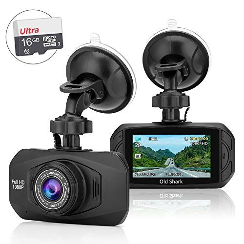 OldShark G11 Car Dash Cam, Full HD 1080P 170° Wide Angle
