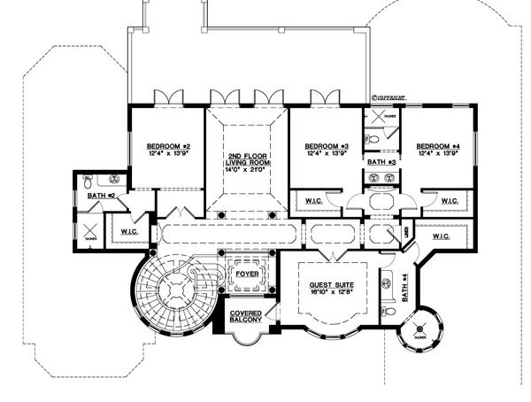 Mediterranean Style House Plan 5 Beds 5 5 Baths 6045 Sq