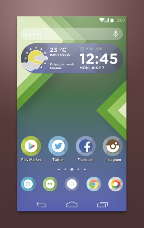 Custom Android Launcher Theme PSD | Mobile Design | Android