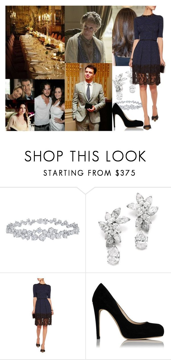 """""""Celebrating Hogmanay with a small dinner at Edinburgh Castle with Grandma, Alex and his family"""" by maryofscotland ❤ liked on Polyvore featuring Harry Winston, Oscar de la Renta and Sebastian Professional"""