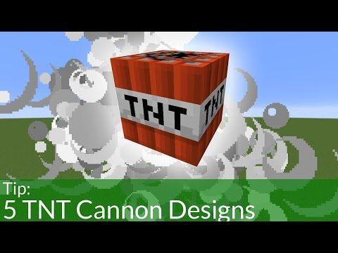 5 Minecraft TNT Cannon Design - YouTube
