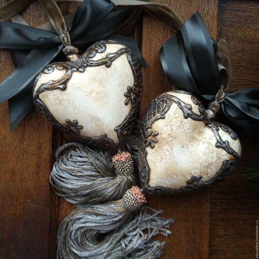 Интерьерные керамические сердечки