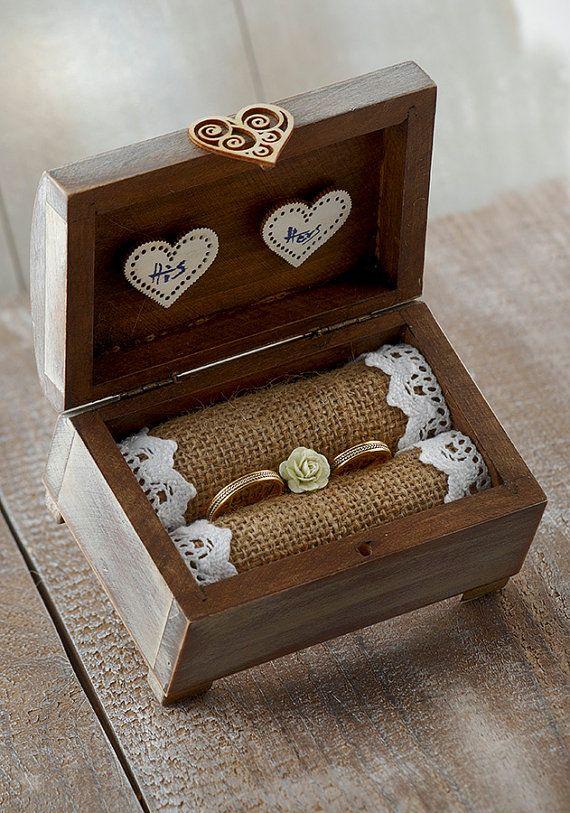 Wedding Ring BoxweddingRustic ring holdershabby by vintagePRECIEUX