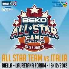 BEKO All Star Game - Beko All Star Game - 16 dicembre - Lauretana Biella ForumLa Nazionale Italiana di basket sfida i migliori stranieri del nostro campionato.Grande spettacolo anche con la gara delle schiacciate e quella tre punti.La selezione dei migli...