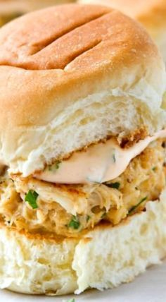 Crab Cake Sliders with Spicy Aioli Sauce