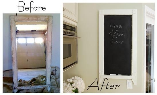 Use chalkboard paint to turn something old into something new.
