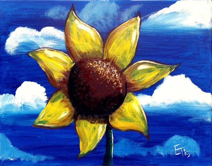 """Sunflower"" Painting available for parties at iPaint Parties"