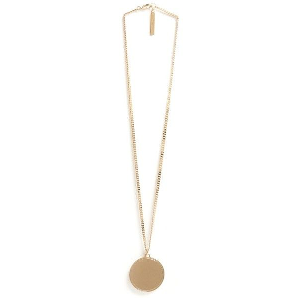GIVENCHY Round Gold  Pendant Necklace (1.095 BRL) ❤ liked on Polyvore featuring jewelry, necklaces, accessories, givenchy jewelry, gold necklace, givenchy, yellow gold jewelry and gold pendant necklace