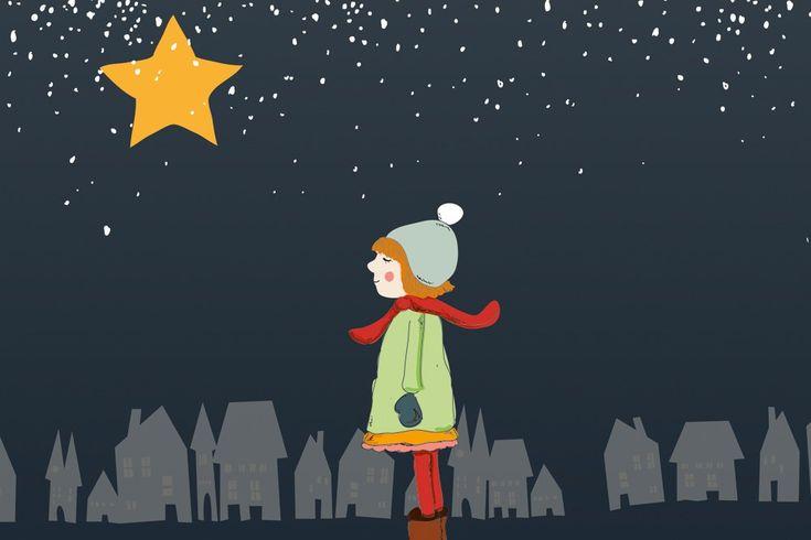 """""""Lina und der Wackelstern"""" - eine Adventsgeschichte für Kinder in Kita, Krippe und Grundschule über das Wünschen. Kostenloses eBook von Hallo liebe Wolke."""