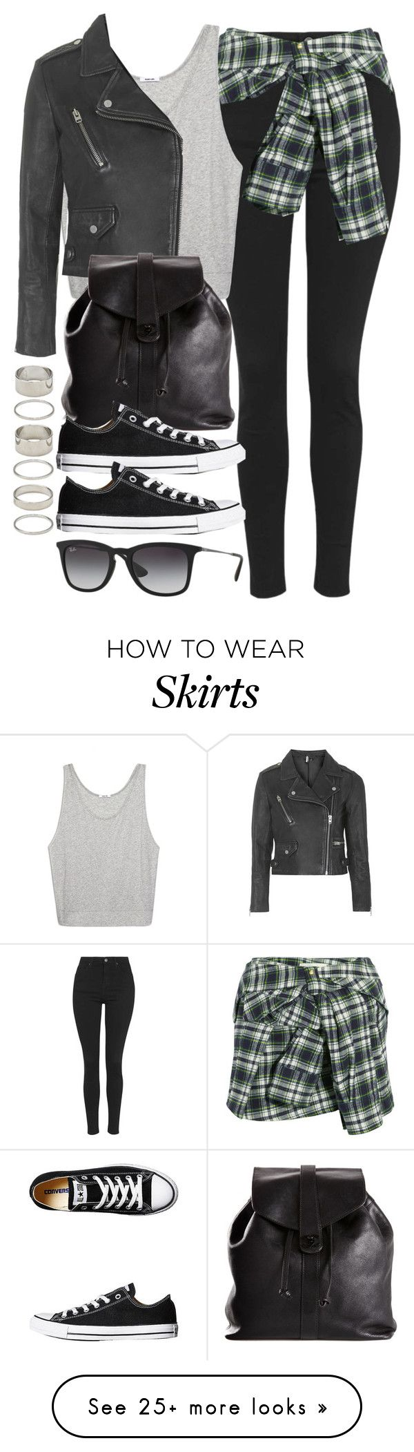 """Style #9676"" by vany-alvarado on Polyvore featuring мода, Topshop, Faith Connexion, Helmut Lang, Chanel, Converse, Ray-Ban и Forever 21"