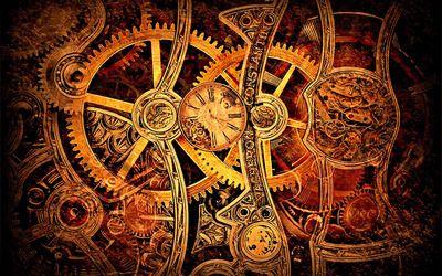 Vintage mechanism wallpaper