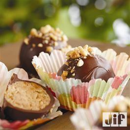 #PeanutButter Chocolate #Cake Bites from Jif®