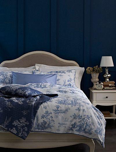 Toile Cotton Rich Bedding Set | M&S