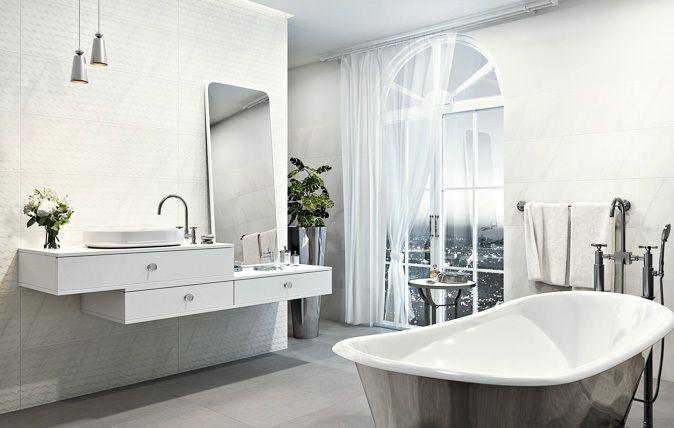Kolekcja Margarita stanowi idealne połączenie ponadczasowego stylu i nowoczesnej formy, wpisując się w estetykę eleganckiego glamour. Płytki są dostępne w klasycznej palecie: Bianco i Nero, a także w wersji Calacatta, zdobionej charakterystyczną siecią drobnych żyłek, budzących skojarzenia z wnętrzem luksusowego apartamentu czy eleganckiej willi w stylu śródziemnomorskim.
