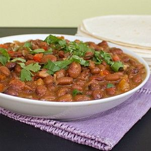 The most amazing Mexican Pinto Beans recipe. Omit butter. Looks like a good recipe.