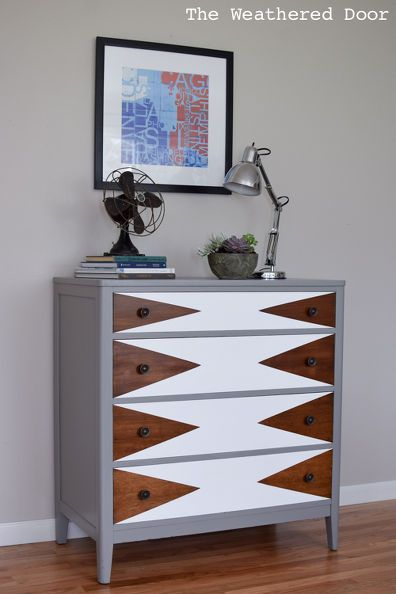 Before & After: Modern Triangle Dresser Makeover
