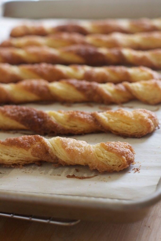 Cinnamon Twists (plus quick puff pastry how to) via The Baker Chick
