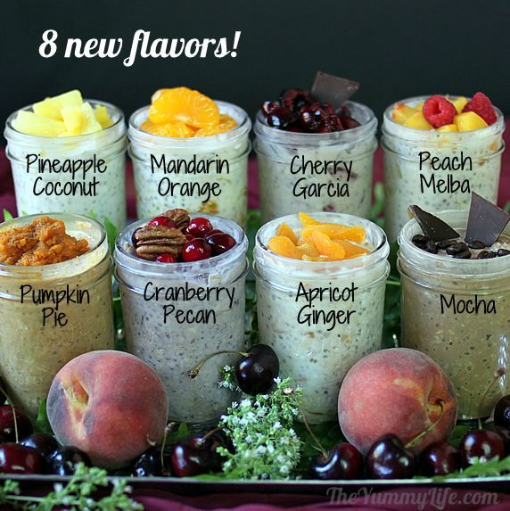 Diy Refrigerator overnight No Cook Oatmeal Recipes From The Yummy Life Now With Fourteen Flavors - Click for More...