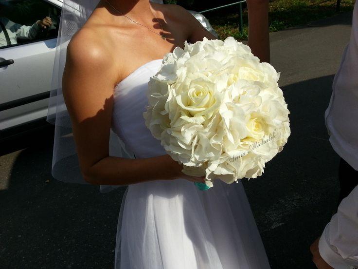 It is magic day: White hydrangea