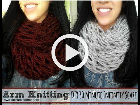 Knitting Scarf Video Tutorial