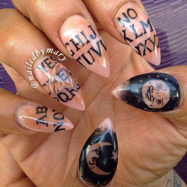 I'm guessing it's ouija board inspired nails