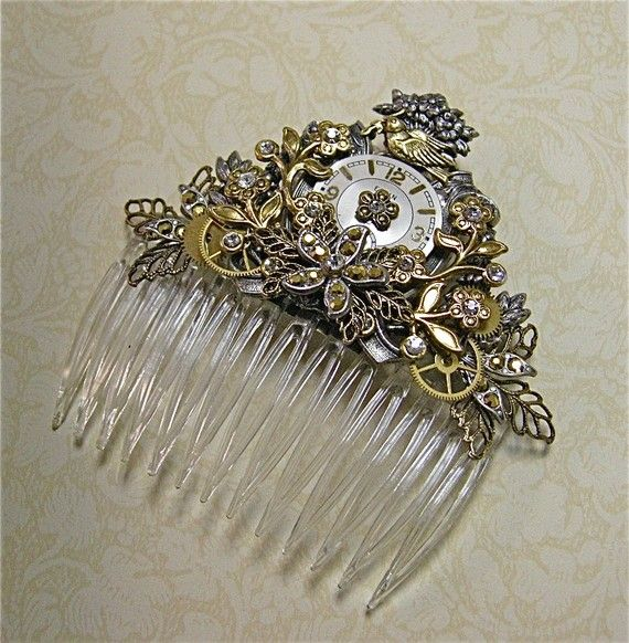 Song Bird Fantasy Jeweled Comb.