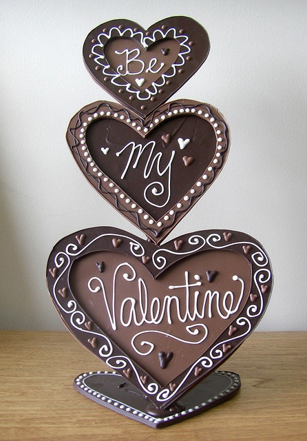 Chocolate Valentine's Sculpture by emilywjones Valentine's Day Treats  #Love #14 #Valentinesday