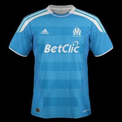 Marseille kits with Adidas designs