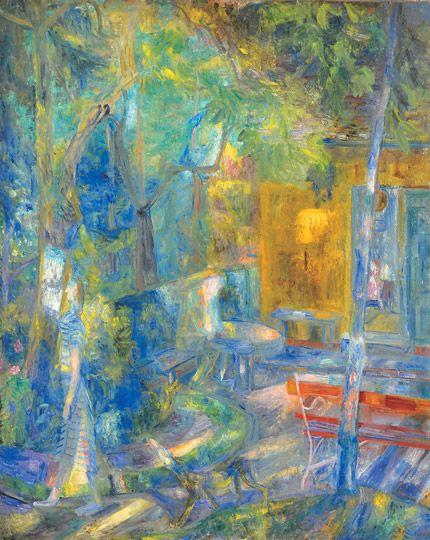 Lola és Misa a művésztelepen, 1942 (Kántorék háza a művésztelepen): 36. aukció (2010. tél) 79.tétel