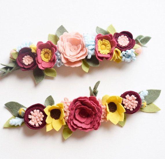CUSTOM+Wildflower+Style+Felt+Flower+Crown+by+EnchantedBowShop