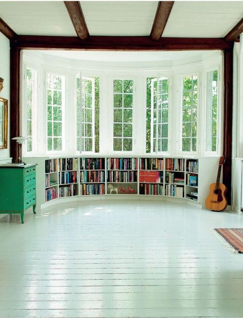 Oh yes. Yes yes yes!! This is gorgeous!! Library/music room/ art room. Of spend all of my time in here!