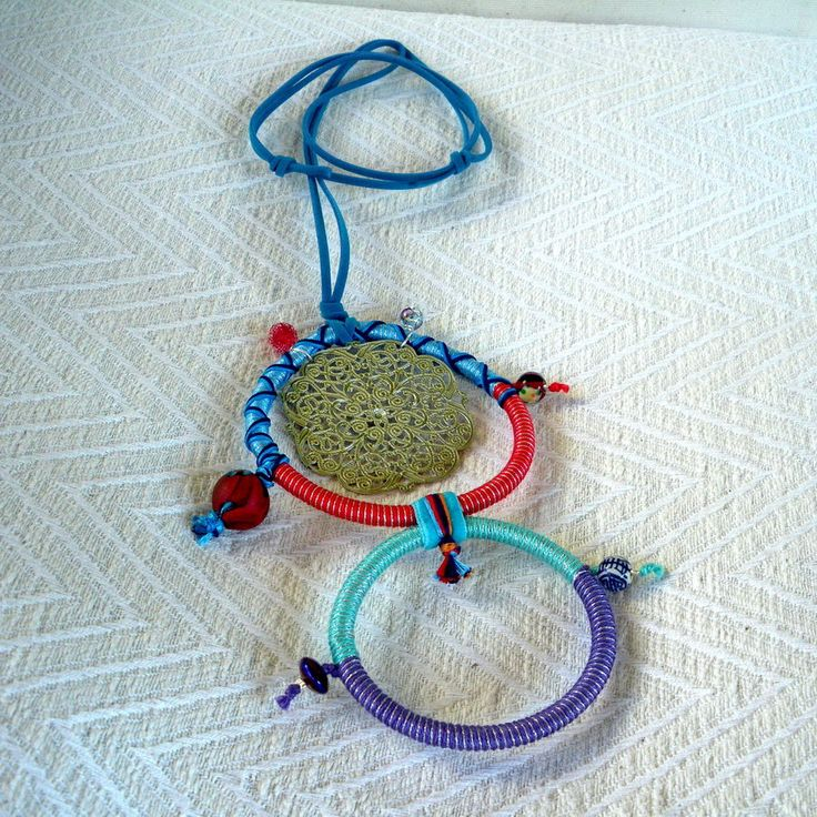 """Summer 2013 Casual collection """"Casual Necklaces"""" Series Circles of life twin-ornament"""