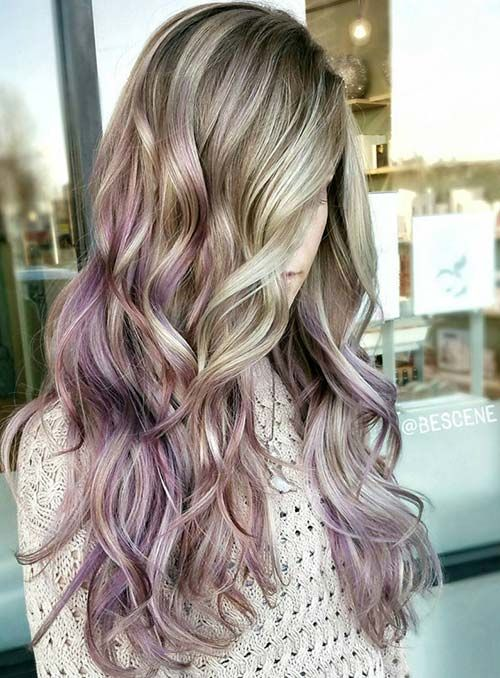 Pastel and Neon Hair Colors in Balayage and Ombre: Light Pastel Hair
