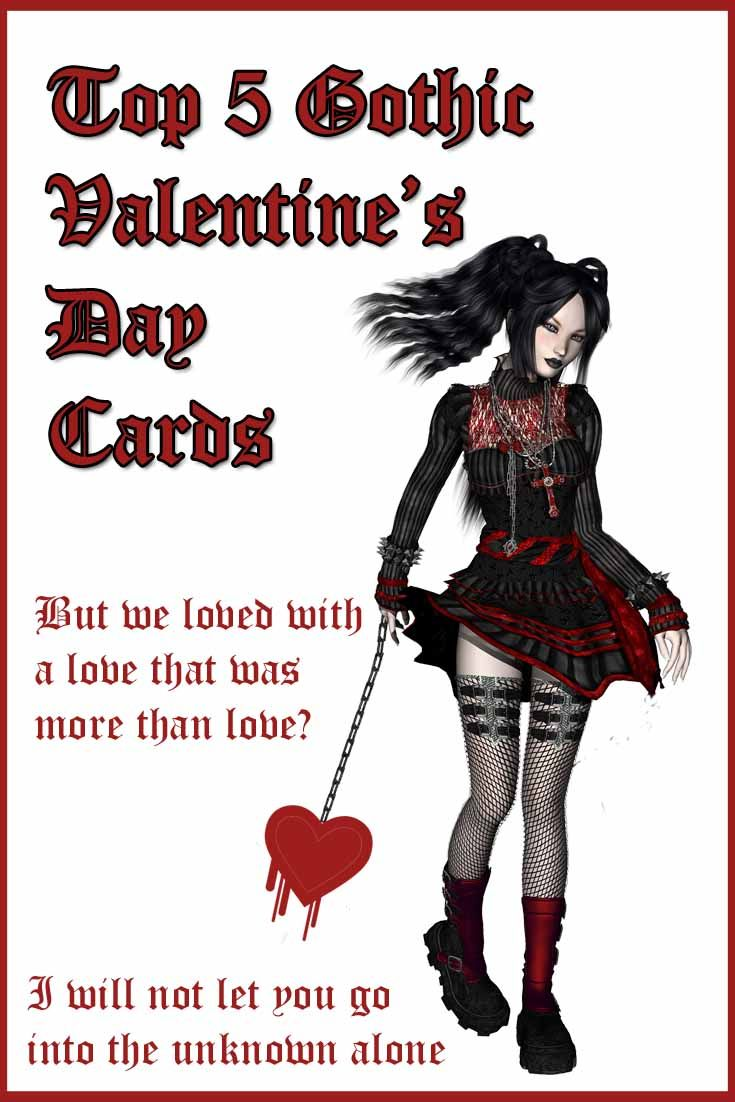 Top 5 Gothic Valentine's Day Cards