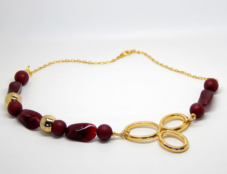 Red gem statement necklace $28.00 AUD