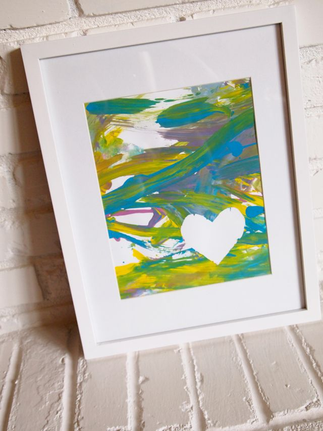 Baby's First Finger Painting...Love this idea!!! Might do it this weekend :)