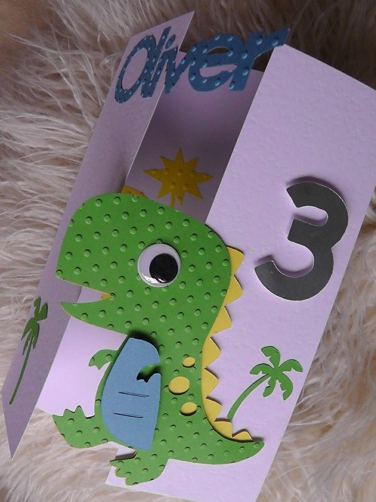 Fabulous Dinosaur Card Front Decoracion De Dinosaurios Fiestas Personalised Birthday Cards Xaembasilily Jamesorg