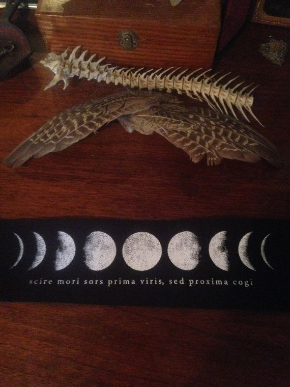 Moon Phases Patch with Latin
