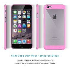 Amazon.com: iPhone 6 Case   iCASEIT COMBi Glass Case   Slim case with Strengthened Glass back   Only 0.8mm in Thickness   Exact-Fit with Premium Finish   Does NOT fit iPhone 6s - BABY PINK: Cell Phones & Accessories