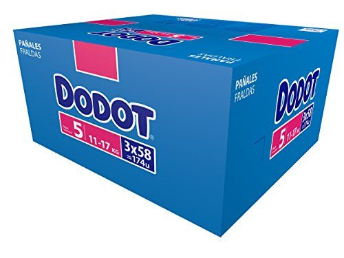 Dodot Pañales Talla 5 (11-17 kg) - Paquete de 3 x 58 Pañales - Total: 174 Pañales #Dodot #Pañales #Talla #Paquete #Total: